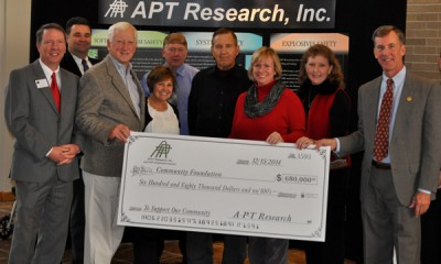 A-P-T Research, Inc. employees donate over $680,000 to Community Foundation